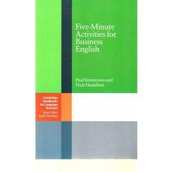 Five-Minute Activities For Business English. Cambridge Handbooks For Language Teachers (opr. miękka)
