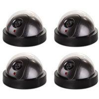 Zestawy monitoringowe, Zestaw monitoring 4 szt kamer ATRAPY (czarne - kopułkowe)