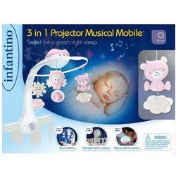 Muzyczna karuzelka Infantino 3w1 różowa. Darmowy odbiór w niemal 100 księgarniach!