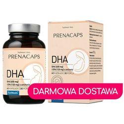 DHA 600mg i EPA 120 mg z anchovis 60 kapsułek 30 porcji 45,9 g Prenacaps ForMeds