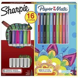 Markery Sharpie Fine 6-kolorów + Paper Mate Flair 10-kolorów (SHP-2079807)