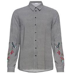 Shirt z długim rękawem i zabawnym nadrukiem bonprix ciemnoniebieski z nadrukiem