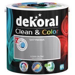 Satynowa farba lateksowa Dekoral Clean&Color lekki ołów 2 5 l
