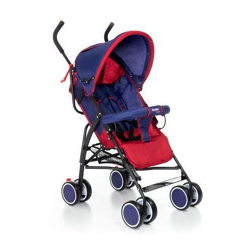 Wózki spacerowe, Wózek spacerówka Moolino Compact C granatowo-czerwony