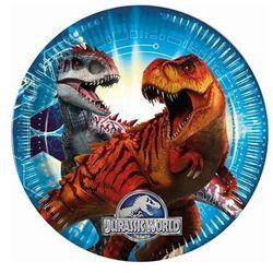 Talerzyki urodzinowe Jurassic Park - Park Jurajski - 23 cm - 8 szt.