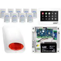 Zestawy alarmowe, Zestaw alarmowy Ropam OptimaGSM 9 x Czujka Bosch Manipulator dotykowy TPR-4WS GSM