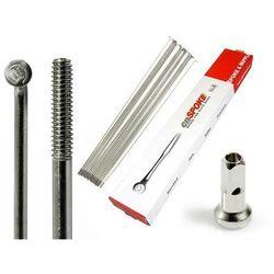 Szprychy CNSPOKE STD14 2.0-2.0-2.0 stal nierdzewna 192mm srebrne + nyple 144szt.