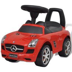 vidaXL Mercedes Benz - samochód zabawka dla dzieci napędzany nogami czerwony Darmowa wysyłka i zwroty