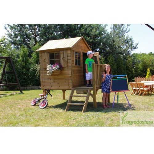 Domki i namioty dla dzieci, Drewniany domek dla dzieci z tarasem Tommy