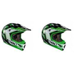 Kask mot.LAZER MX7 Evo Space Runner biały/zielony