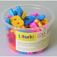 Pozostałe zabawki edukacyjne, Literki ALEXANDER z magnesem w wiaderku