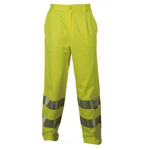 Spodnie i kombinezony ochronne, Spodnie robocze ostrzegawcze żółte, rozmiar XL