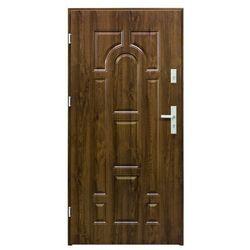 Drzwi zewnętrzne stalowe Splendoor Granit 90 lewe orzech