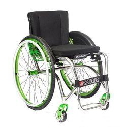Wózek ultra lekki, składany, na sztywnej ramie, z szybkozłączami. Tytanowy. Offcar Quasar (dla dzieci i dla dorosłych)