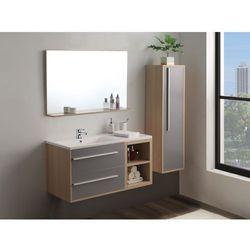 Zestaw JASMINE – meble łazienkowe – kolor drewna i biały