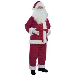 Śliwkowy strój Mikołaja - kurtka, spodnie i czapka