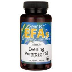Olej z wiesiołka dwuletniego Evening Primrose Oil EFAs 500mg 100 kapsułek Swanson