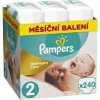 Pieluchy jednorazowe, PAMPERS Premium Care 2 MINI 240 szt. (3-6 kg) ZAPAS NA MIESIĄC - pieluchy jednorazowe