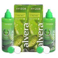 Płyny pielęgnacyjne do soczewek, Płyn do soczewek Alvera Solution 2 x 350 ml