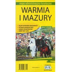 Województwo Warmińsko-Mazurskie. Mapa turystyczno-administracyjna (opr. miękka)