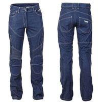 Spodnie motocyklowe damskie, Spodnie motocyklowe damskie jeansowe z kevlarem W-TEC NF-2990, Ciemny niebieski, 4XL