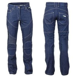 Damskie spodnie motocyklowe jeansowe z kevlarem W-TEC NF-2990 - 2 JAKOŚĆ, Ciemny niebieski, 4XL
