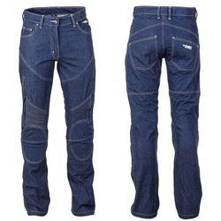Spodnie motocyklowe damskie jeansowe z kevlarem W-TEC NF-2990, Ciemny niebieski, S