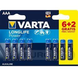 VARTA AAA Long Life Power (6+2 szt.)