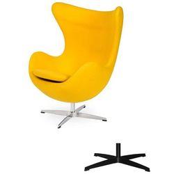 Fotel Jajo EGG CLASSIC - 3 kolory nóżek - wełna - Żółty słoneczny