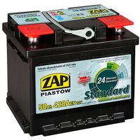 Akumulatory samochodowe, Akumulator ZAP Standard 50Ah 420A PRAWY PLUS