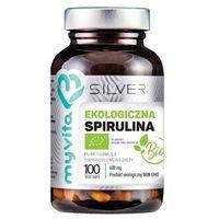 Detox i oczyszanie organizmu, Silver Pure 100% Spirulina BIO 600mg 100 kaps.