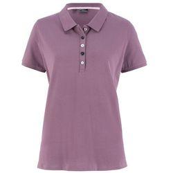 Shirt polo z bawełny pique bonprix matowy lawendowy