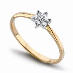 Złoty pierścionek PXD0516 - Diament