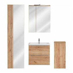 Komplet podwieszanych szafek łazienkowych - Malta 3Q Dąb 60 cm
