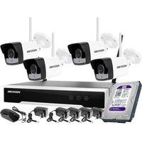 Zestawy monitoringowe, Monitoring zestaw bezprzewodowy Hikvision 4 kamery WiFi Full HD 1080p 1TB