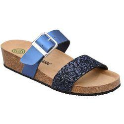 Klapki buty Dr Brinkmann 701036-5 Granatowe - Niebieski ||Granatowy ||Multikolor ||Brokat