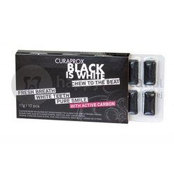 CURAPROX BLACK-IS-WHITE wybielająca guma do żucia z aktywnym węglem