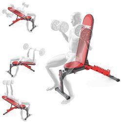 Ławka treningowa do ćwiczeń dwustronnie regulowana pod sztangę skos ujemny KSSL010