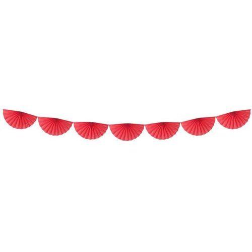 Pozostałe wyposażenie domu, Girlanda bibułowa Rozety czerwone - 300 cm - 1 szt.