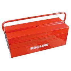 Skrzynka narzędziowa metalowa 3 - częściowa jednorączkowa, 55cm Proline 33553