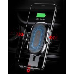 Baseus Wireless Charger Gravity uchwyt samochodowy na kratkę wentylacyjną + bezprzewodowa ładowarka Qi czerwony (WXYL-09)