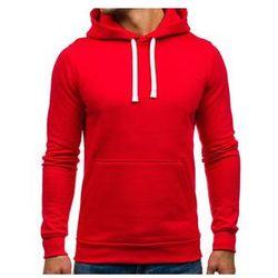 Bluza męska z kapturem czerwona Denley 02