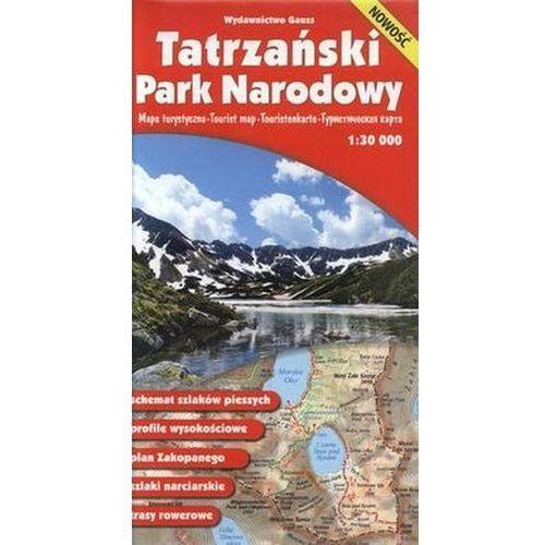 Mapy i atlasy turystyczne, Tatrzański Park Narodowy. Mapa turystyczna. 1: 30 000, Gauss (opr. miękka)