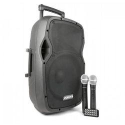 "Vonyx AP1200PA Przenośna kolumna nagłośnieniowa 30 cm (12"") Bluetooth USB SD MP3 VHF akumulator"