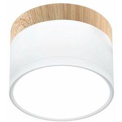 TUBA LED Biały | Brąz śr. 8,8cm. 9W 4000K Downlight Candellux 2273648