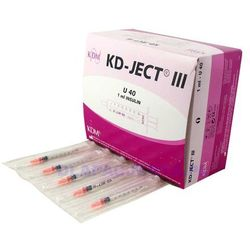 Strzykawka jedn. użytku 1ml insulinowa U40 (z igłą 0,33x12mm) - 100szt.
