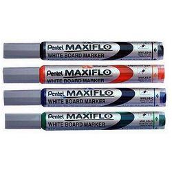 Marker suchościeralny MAXIFLO (z tłoczkiem), okrągła końcówka, Pentel MWL5SB czerwony