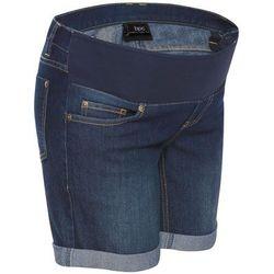 """Szorty ciążowe dżinsowe z paskiem pod brzuch bonprix ciemnoniebieski """"stone"""""""
