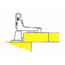 Typy montażu okiennic - nakładane mocowane do ramy - szkice poglądowe