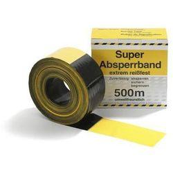 Taśma odgradzająca z polietylenu, dwustronnie zadrukowany, dł. rolki 500 m, żółt